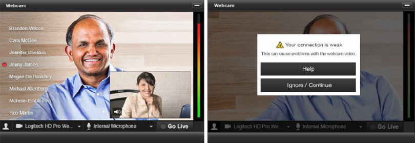 Updated Webcam Application
